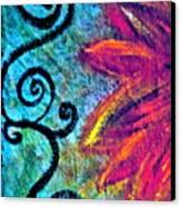 Sunny Day Purple Canvas Print by Gwyn Newcombe