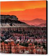 Sunrise At Bryce Canyon Canvas Print by Photography Aubrey Stoll