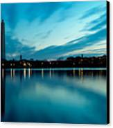 Sunrise In The Capital Canvas Print by David Hahn