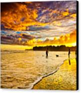 Sunset At The Coast Canvas Print by Iris Greenwell