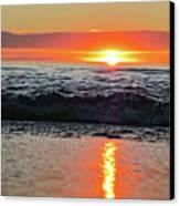Sunset Beach Canvas Print by Douglas Barnard
