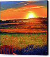 Sunset Eat Fire Spring Rd Nantucket Ma 02554 Large Format Artwork Canvas Print by Duncan Pearson