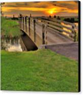 Sunset Foot Bridge Canvas Print by Dale Stillman