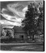 Sunset In Grafton Ghost Town Canvas Print by Sandra Bronstein