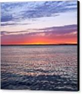 Sunset On Barnegat Bay I - Jersey Shore Canvas Print by Angie Tirado