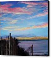 Sunset On Cape Cod Bay Canvas Print by Jack Skinner