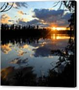 Sunset On Polly Lake Canvas Print by Larry Ricker