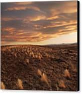 Sunset On The Ridge Canvas Print by James Steele