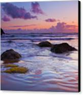 Sunset Ripples Canvas Print by Mike  Dawson