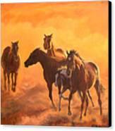 Sunset Run Canvas Print by Jana Goode