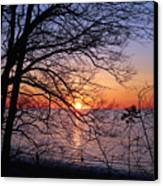 Sunset Silhouette 2 Canvas Print by Peter Chilelli