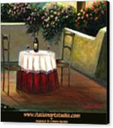 Sunset Table Canvas Print by Italian Art