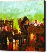 Sunset Terrace Intimacy Canvas Print by Marilyn Sholin