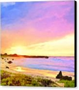 Sunset Walk Canvas Print by Dominic Piperata
