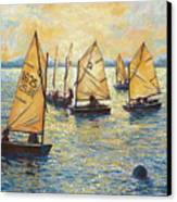 Sunwashed Sailors Canvas Print by Marguerite Chadwick-Juner