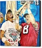 Super Bowl Legends Canvas Print by Lance Gebhardt