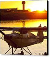 Super Cub At The End Of The Day Canvas Print by Tim Grams