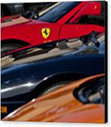Supercars Ferrari Emblem Canvas Print by Jill Reger