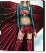 Supergirl Canvas Print by Brendon Larimore