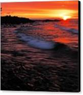 Superior Sunrise 2 Canvas Print by Larry Ricker