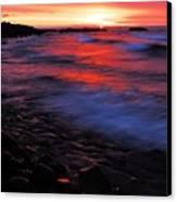 Superior Sunrise Canvas Print by Larry Ricker