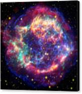 Supernova Remnant Cassiopeia A Canvas Print by Stocktrek Images