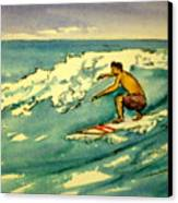 Surfer In The Sky Canvas Print by Pete Maier