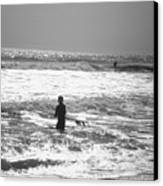 Surfers Canvas Print by Utopia Concepts