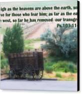 Surreal Old Wagon Ps.103 V 11-12 Canvas Print by Linda Phelps