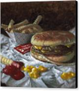 Suzy-q Double Cheeseburger Canvas Print by Timothy Jones