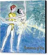 Swan Lake Ballet Poster Canvas Print by Marie Loh