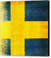 Swedish Flag Canvas Print by Setsiri Silapasuwanchai