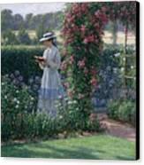 Sweet Solitude Canvas Print by Edmund Blair Leighton