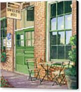 Sweetie Pies Bakery Canvas Print by Gail Chandler