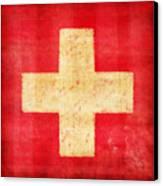 Switzerland Flag Canvas Print by Setsiri Silapasuwanchai