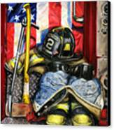 Symbols Of Heroism Canvas Print by Paul Walsh