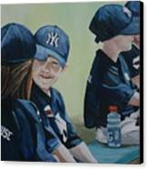 T Ball Friends Canvas Print by Charlotte Yealey