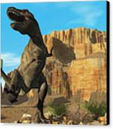 T-rex Canvas Print by Corey Ford