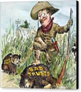 T. Roosevelt Cartoon, 1909 Canvas Print by Granger