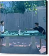 Table Tennis Canvas Print by Andrew Macara