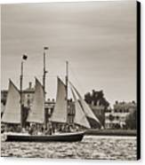 Tall Ship Schooner Pride Off The Historic Charleston Battery Canvas Print by Dustin K Ryan