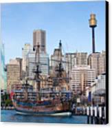 Tall Ships - Sydney Harbor Canvas Print by Charles Warren