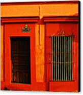 Tangerine Casa By Michael Fitzpatrick Canvas Print by Mexicolors Art Photography
