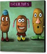 Tater Tots Canvas Print by Leah Saulnier The Painting Maniac