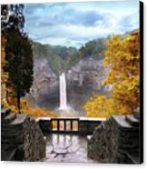 Taughannock In Autumn Canvas Print by Jessica Jenney