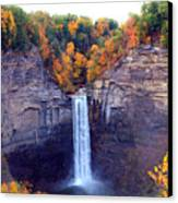 Taughannock Waterfalls In Autumn Canvas Print by Paul Ge