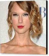 Taylor Swift In The Press Room Canvas Print by Everett