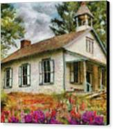 Teacher - The School House Canvas Print by Mike Savad