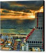 Tel Aviv Lego Canvas Print by Ron Shoshani