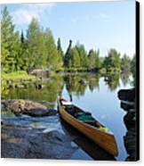 Temperance River Portage Canvas Print by Larry Ricker